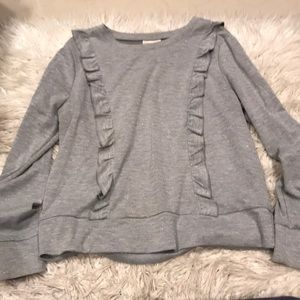 Grey Shimmery Pullover Top